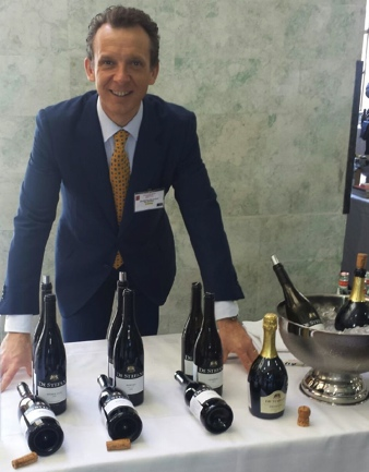 Alessandro De Stefani during a wine tasting